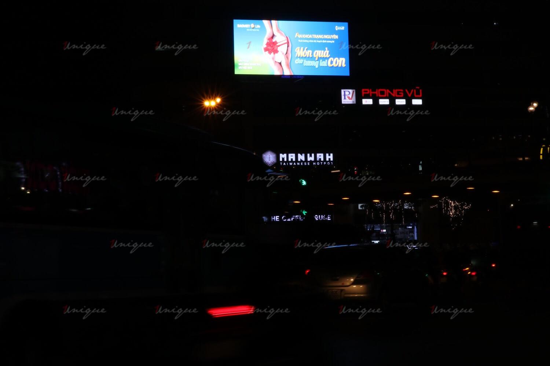 Màn hình Led quảng cáo ngoài trời tại nút giao thái hà