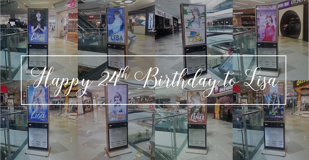 Project quảng cáo LCD tại TTTM chúc mừng sinh nhật Lisa BlackPink