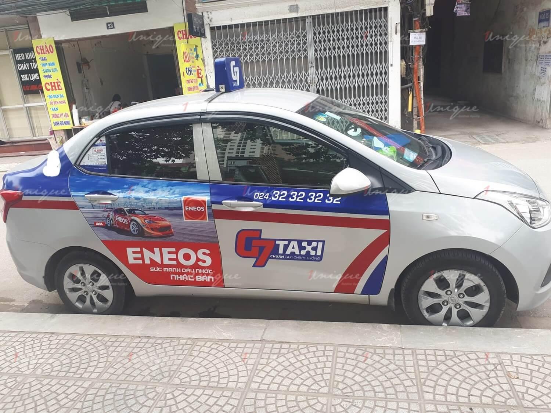 quảng cáo trên taxi g7