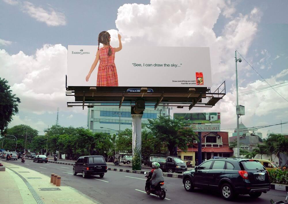 bảng quảng cáo 3D sáng tạo