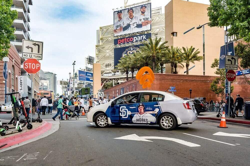 chiến dịch quảng cáo trên ô tô của San Diego Padres