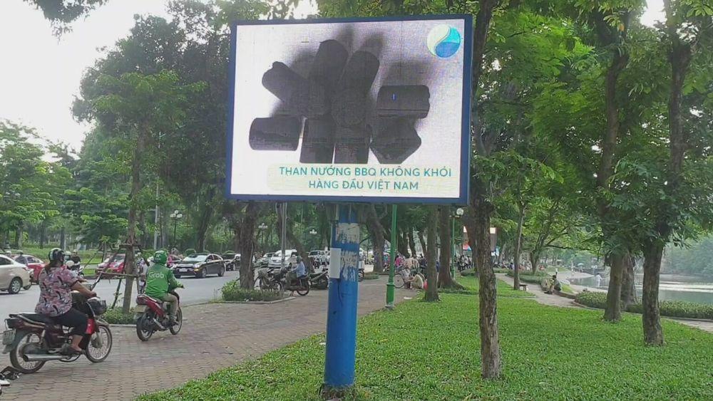 Chuỗi 10 màn hình Led quảng cáo ngoài trời tại Hồ Thiền Quang
