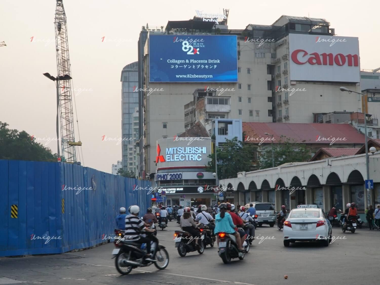 Màn hình Led quảng cáo 14 Lê Lai, vòng xoay chợ Bến Thành, Quận 1