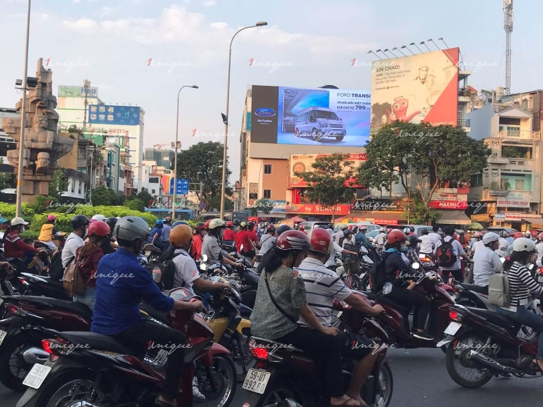 Màn hình Led quảng cáo 677 Điện Biên Phủ, vòng xoay Lý Thái Tổ, Quận 3