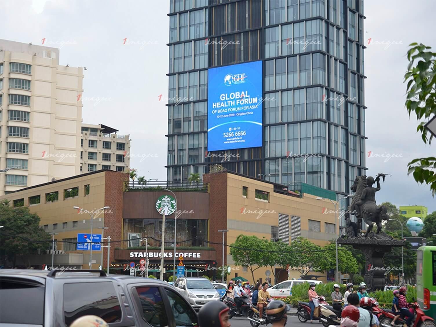 Màn hình Led quảng cáo ngoài trời A&B Sài Gòn Tower, 76 Lê Lai, Quận 1