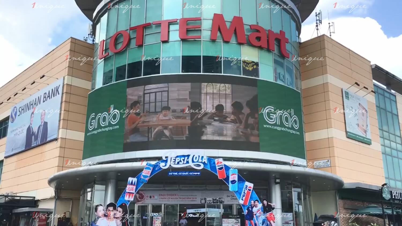 Màn hình Led quảng cáo ngoài trời tại Lotte Mart, quận 7, Hồ Chí Minh