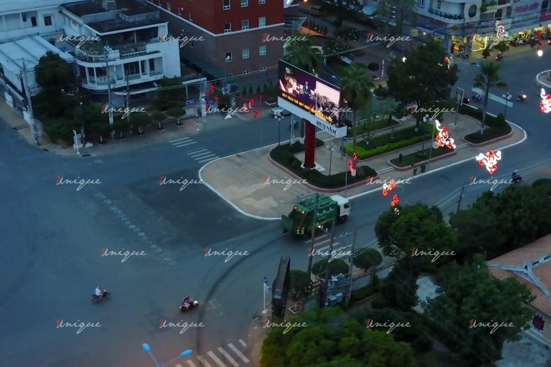 Màn hình Led quảng cáo tại Công viên Hai Bà Trưng - Long Xuyên, An Giang
