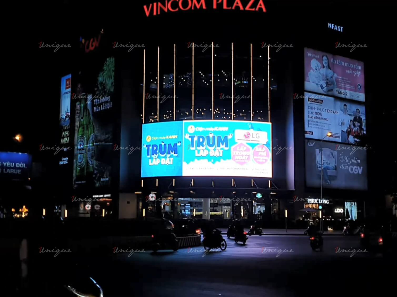 Màn hình led quảng cáo tại Vincom Plaza Vincom Plaza Hùng Vương - Ninh Kiều, Cần Thơ
