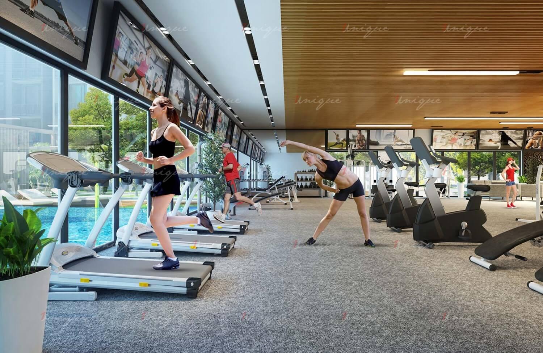 quảng cáo tại trung tâm fitness