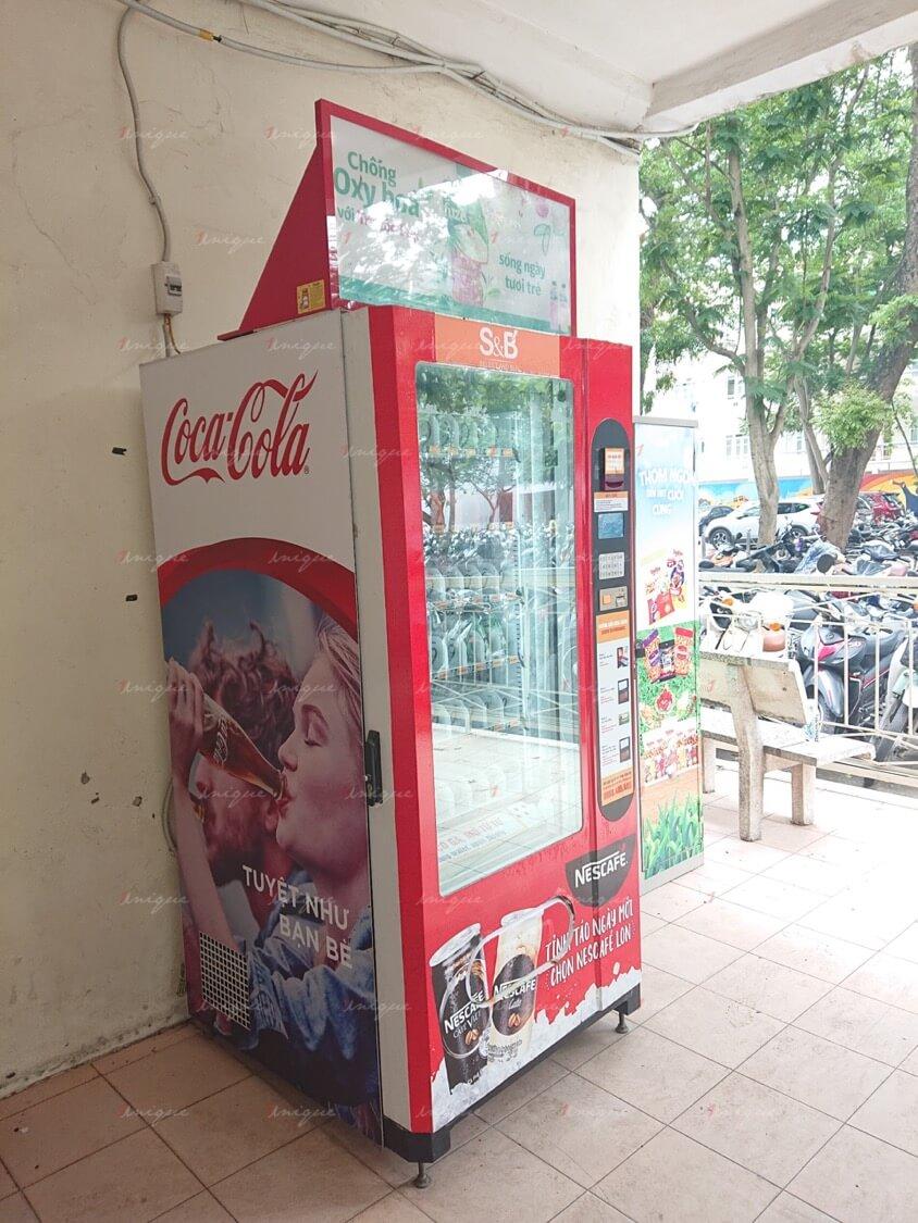 Quảng cáo trên máy bán hàng tự động