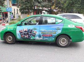 Nescafe quảng cáo full 4 cánh trên taxi Mai Linh
