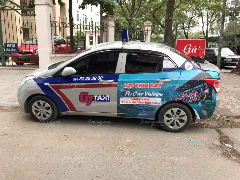 báo giá quảng cáo trên taxi