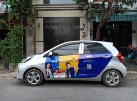 luật quy định dán quảng cáo trên xe ô tô
