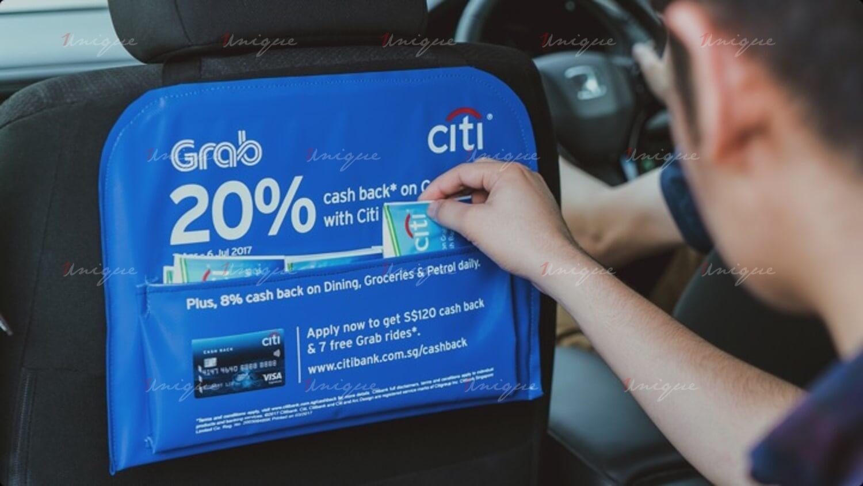 quảng cáo túi treo xe ô tô