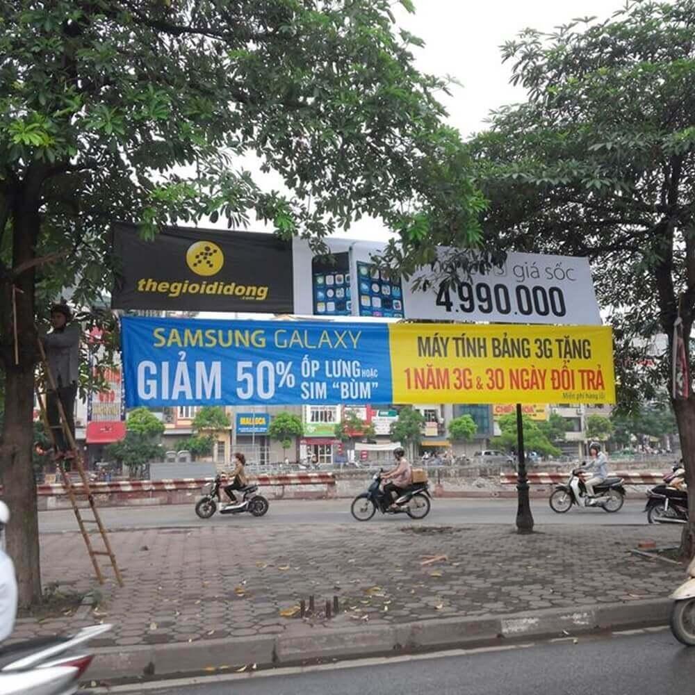 quảng cáo tro banner phướn băng rôn