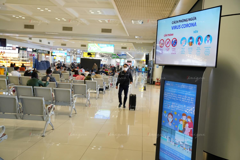 quảng cáo màn hình Led, Lcd, Frame tại sân bay Tân Sơn Nhất