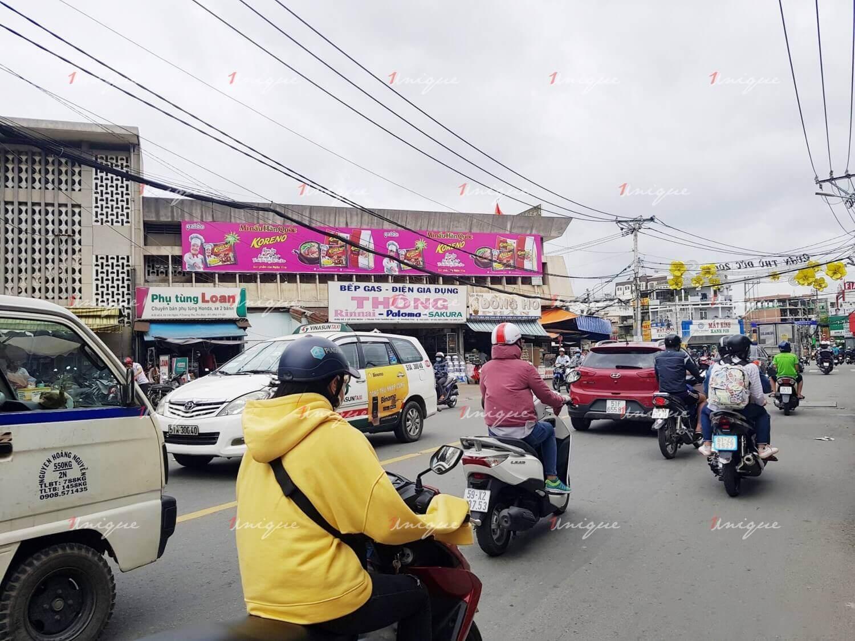 quảng cáo tại chợ truyền thống