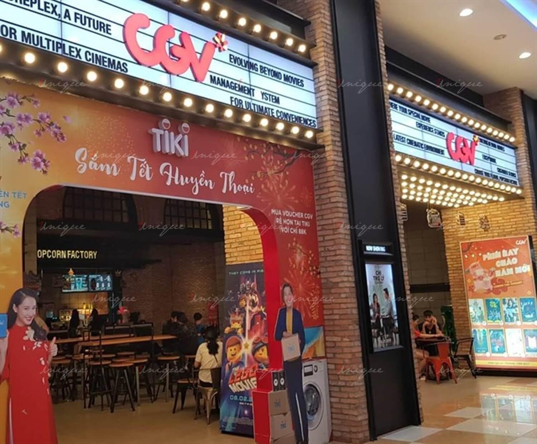 quảng cáo tại rạp chiếu phim cgv