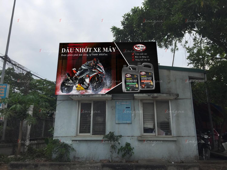 quảng cáo tại trạm đăng kiểm