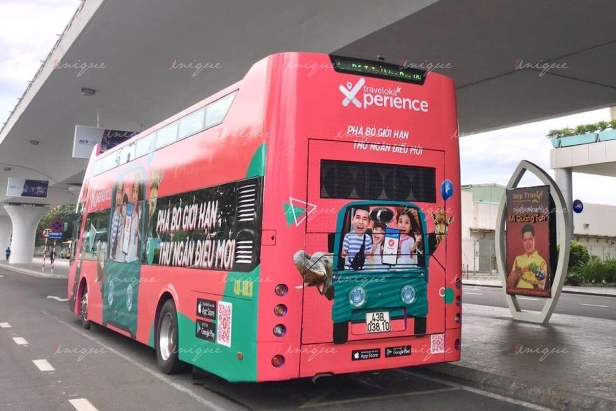 quảng cáo trên xe bus 2 tầng
