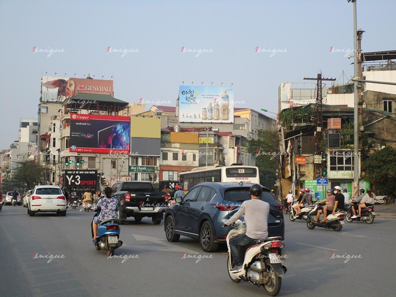 Pano quảng cáo tại Ngã 7 Ô Chợ Dừa, Đống Đa, Hà Nội