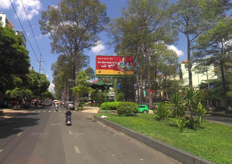 billboard quảng cáo ngoài trời tại mũi tàu Hùng Vương - Nguyễn Chí Thanh