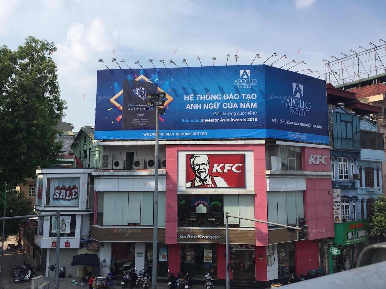 Pano quảng cáo tại 353 phố Huế, ngã 4 Đại Cồ Việt - Trần Khát Chân