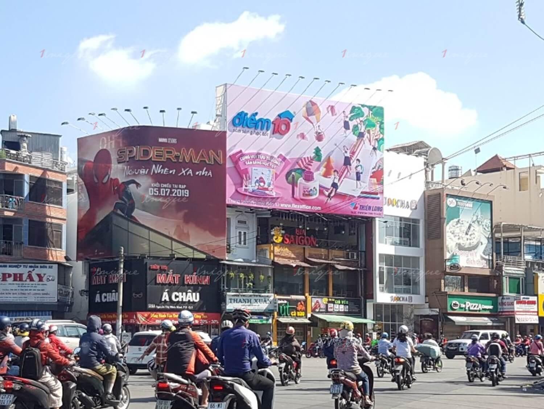 pano quảng cáo tại 512 nguyễn thị minh khai vòng xoay lý thái tổ HCM