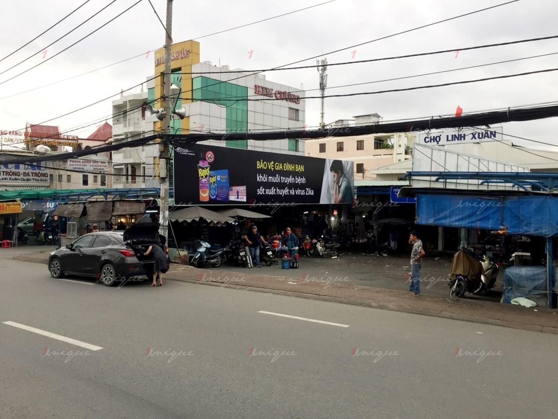 quảng cáo biển chợ Linh Xuân, Thủ Đức, Hồ Chí Minh