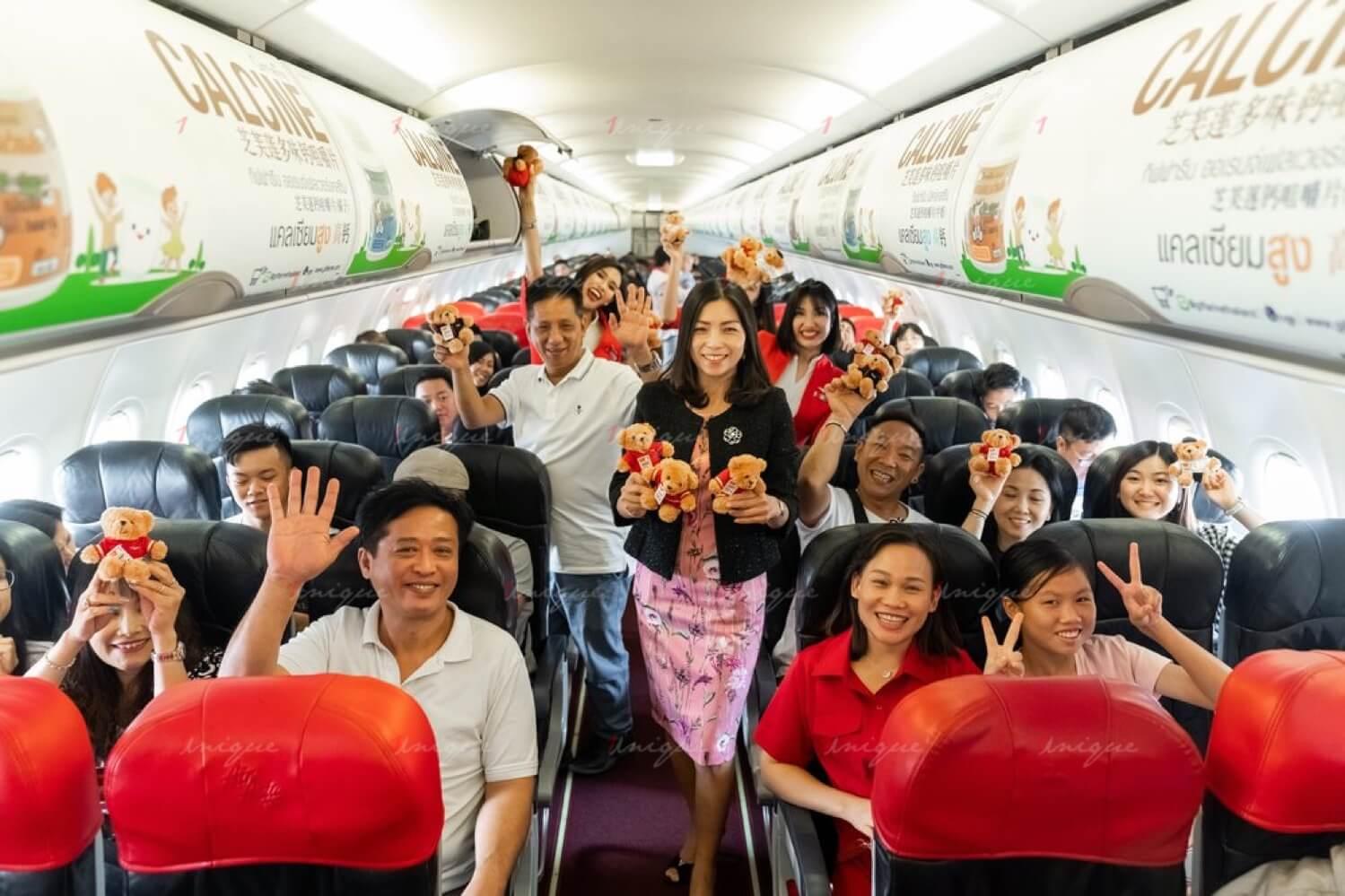 Quảng cáo trên máy bay AirAsia