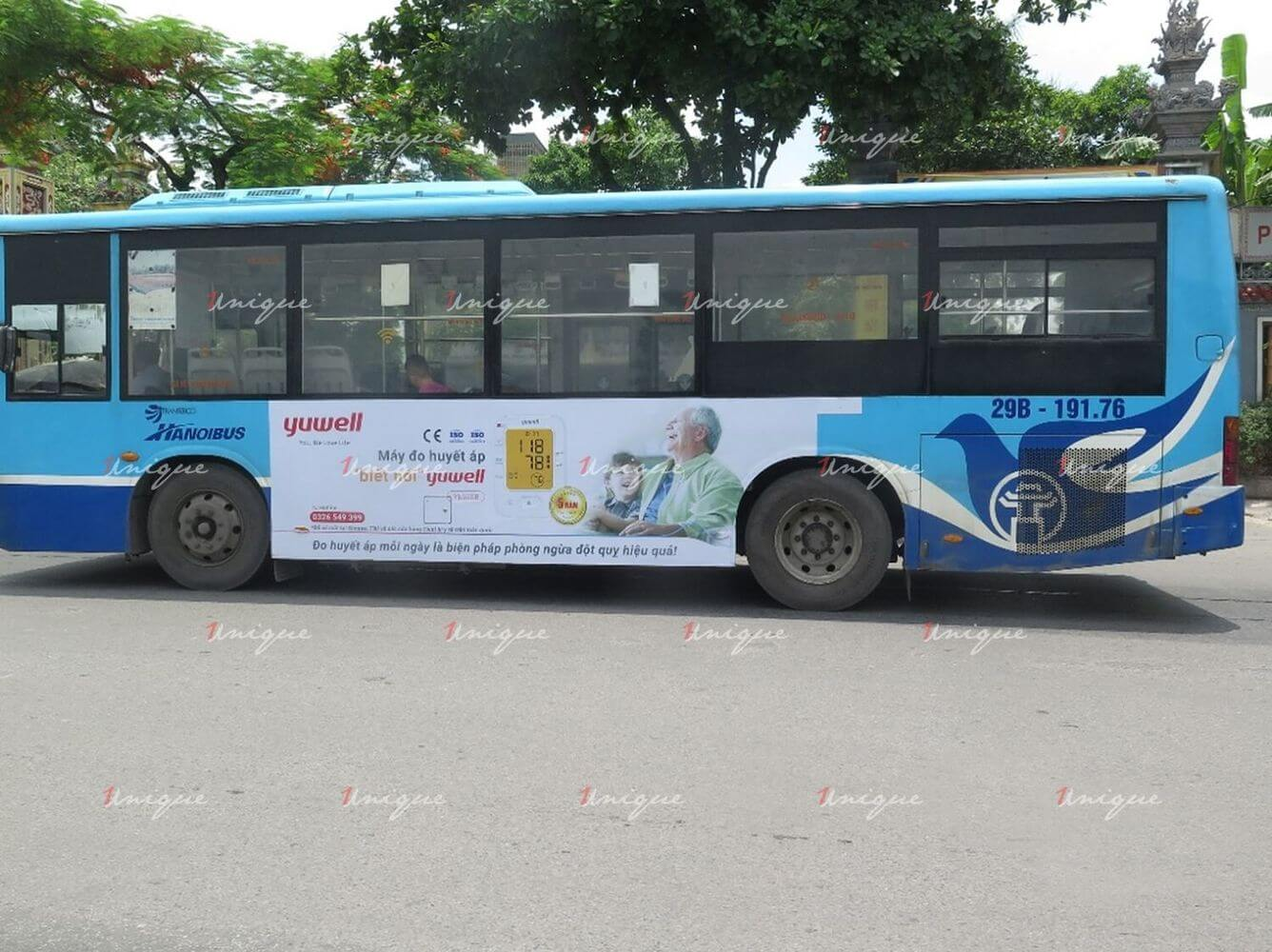 Yuwell quảng cáo trên xe buýt tại Hà Nội