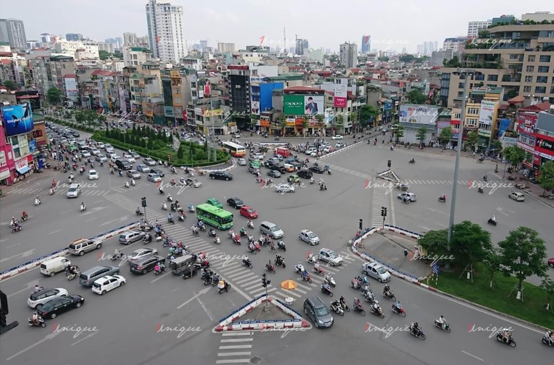 Màn hình Led quảng cáo ngoài trời tại Ngã 7 Ô Chợ Dừa, Hà Nội