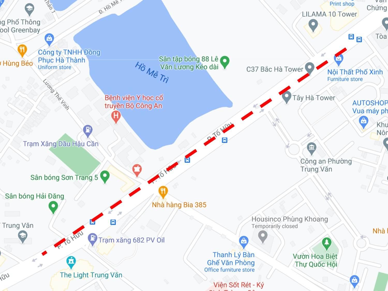 quảng cáo biển hộp đèn đường Tố Hữu, Hà Nội