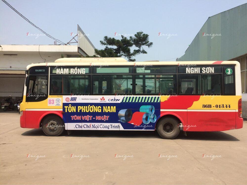 quảng cáo xe bus thanh hóa