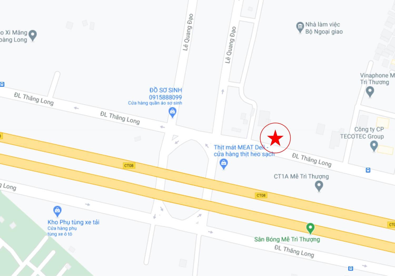 Thi công biển chỉ dẫn cho bất động sản The Matrix One vị trí nút giao Đại lộ Thăng Long – Lê Quang Đạo