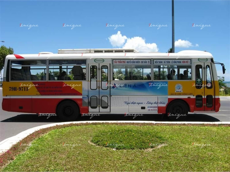 quảng cáo trên xe bus khánh hòa - nha trang