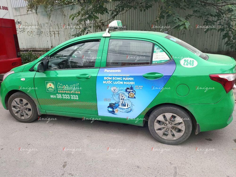 quảng cáo taxi tại hòa bình