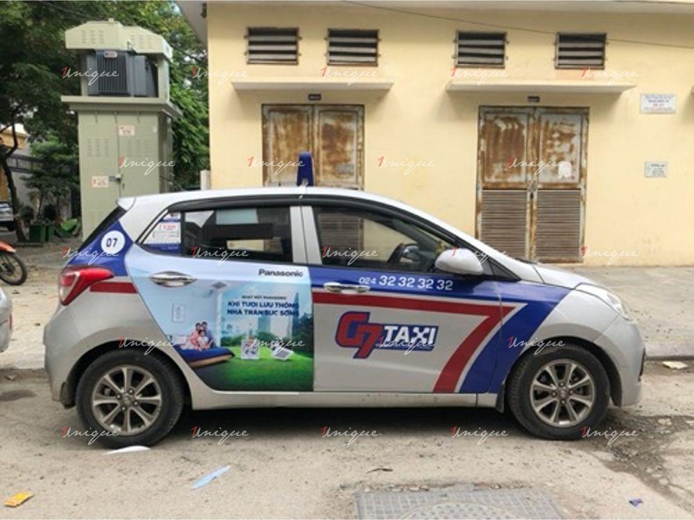Quạt hút Panasonic quảng cáo trên xe taxi G7 2020
