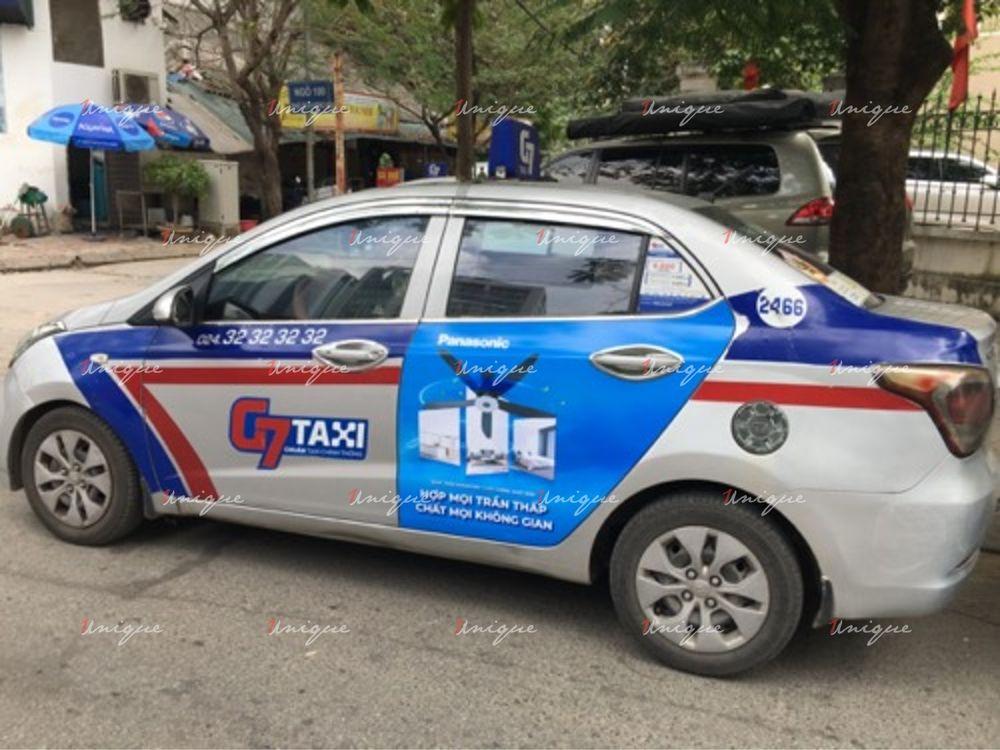 Quạt trần Panasonic quảng cáo trên xe taxi G7 2020