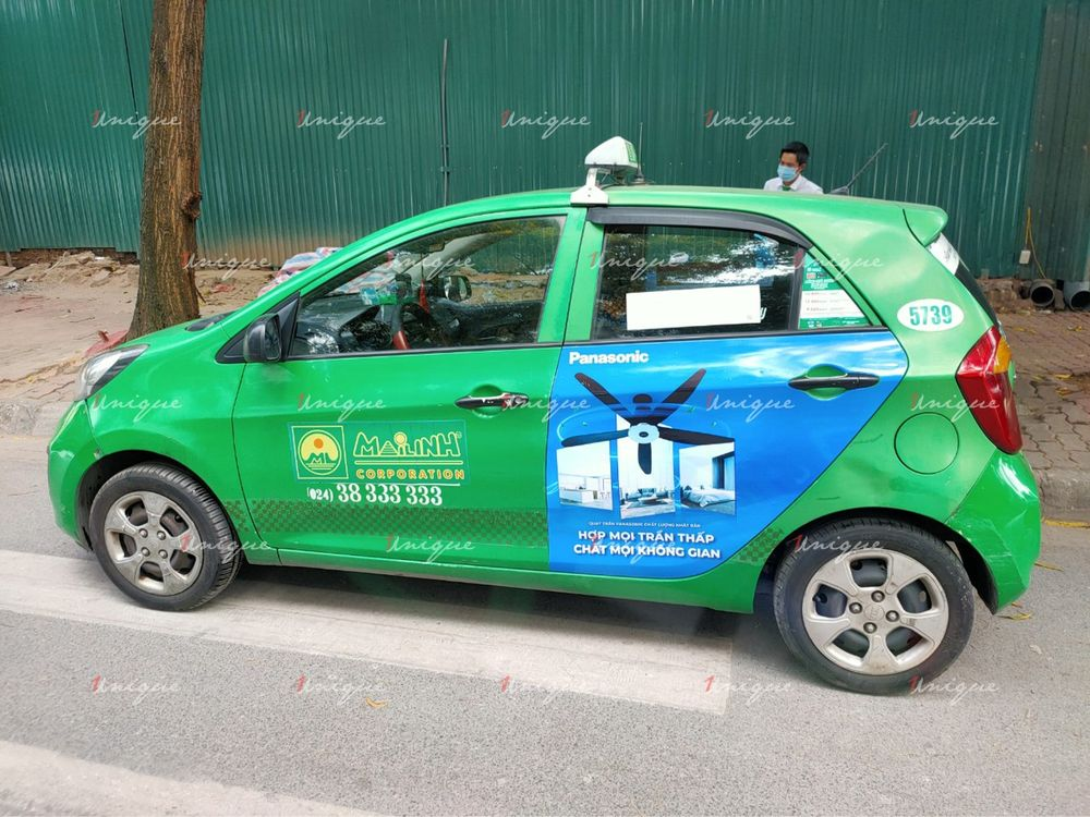 quảng cáo taxi tại quảng bình