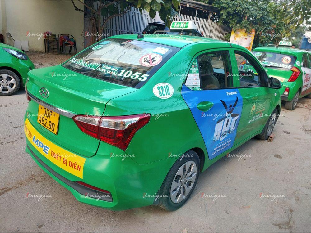 Quạt trần Panasonic quảng cáo trên xe taxi 2020