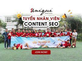 Unique tuyển nhân viên Content SEO