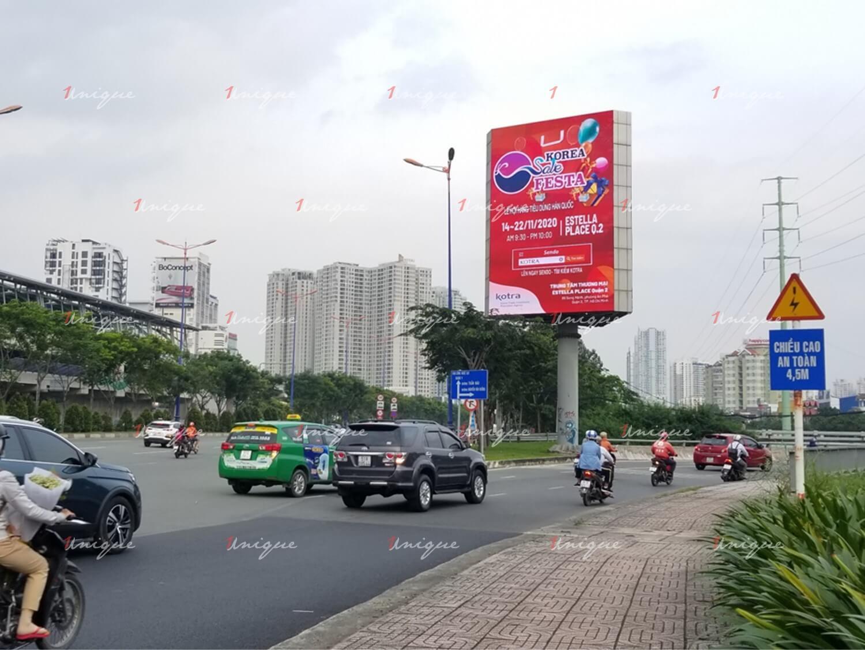 Kotra quảng cáo màn hình LED ngoài trời chân cầu Sài Gòn
