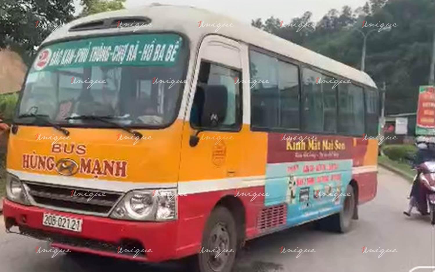 Quảng cáo xe bus Bắc Kạn