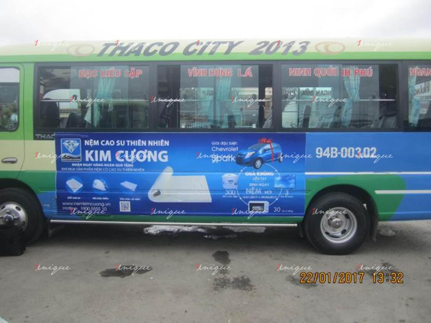 Quảng cáo xe bus tại Bạc Liêu