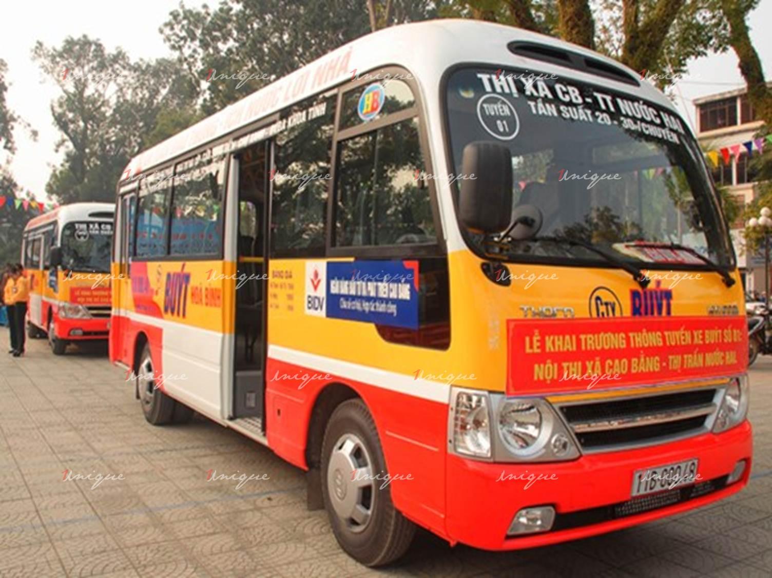 Quảng cáo xe bus tại Cao Bằng