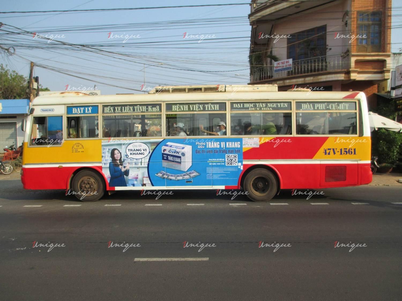 Quảng cáo xe bus tại Đắk Lắk