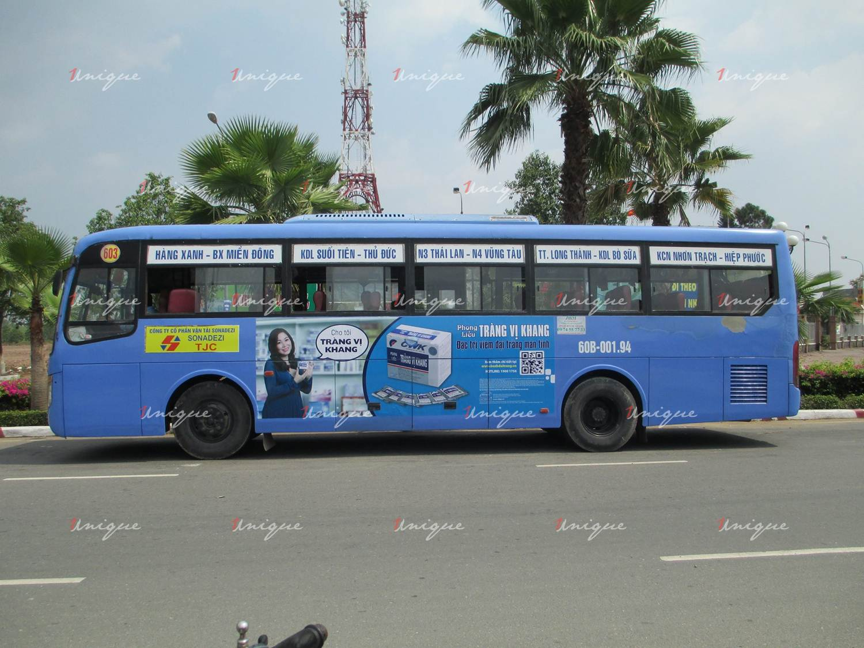 Quảng cáo xe bus tại đồng nai