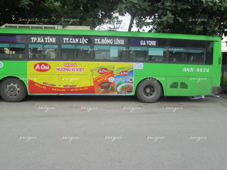 Quảng cáo xe bus tại Hà Tĩnh