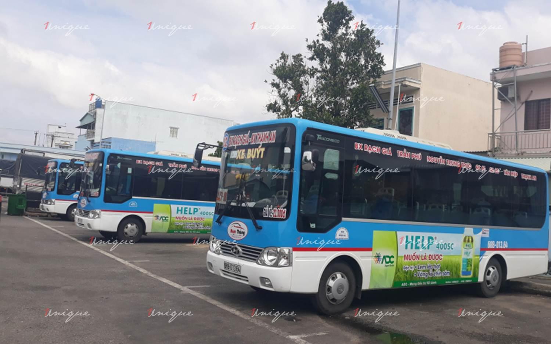 Quảng cáo xe bus tại Kiên Giang